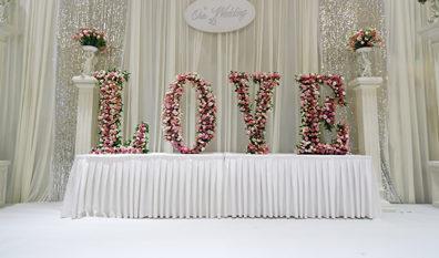 Pour une décoration mariage n'oubliez pas les fleurs !